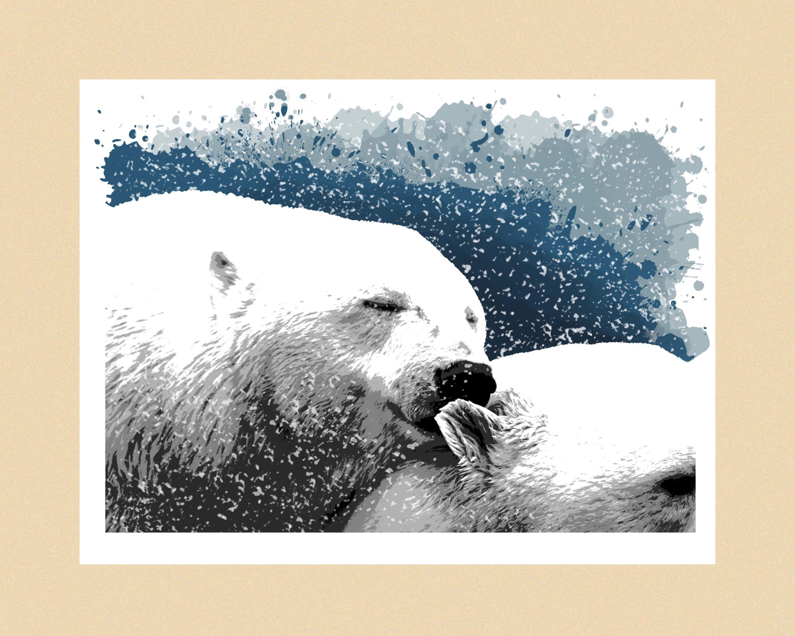 Bear hug 30 x 40 (trykk) | 1200 kr