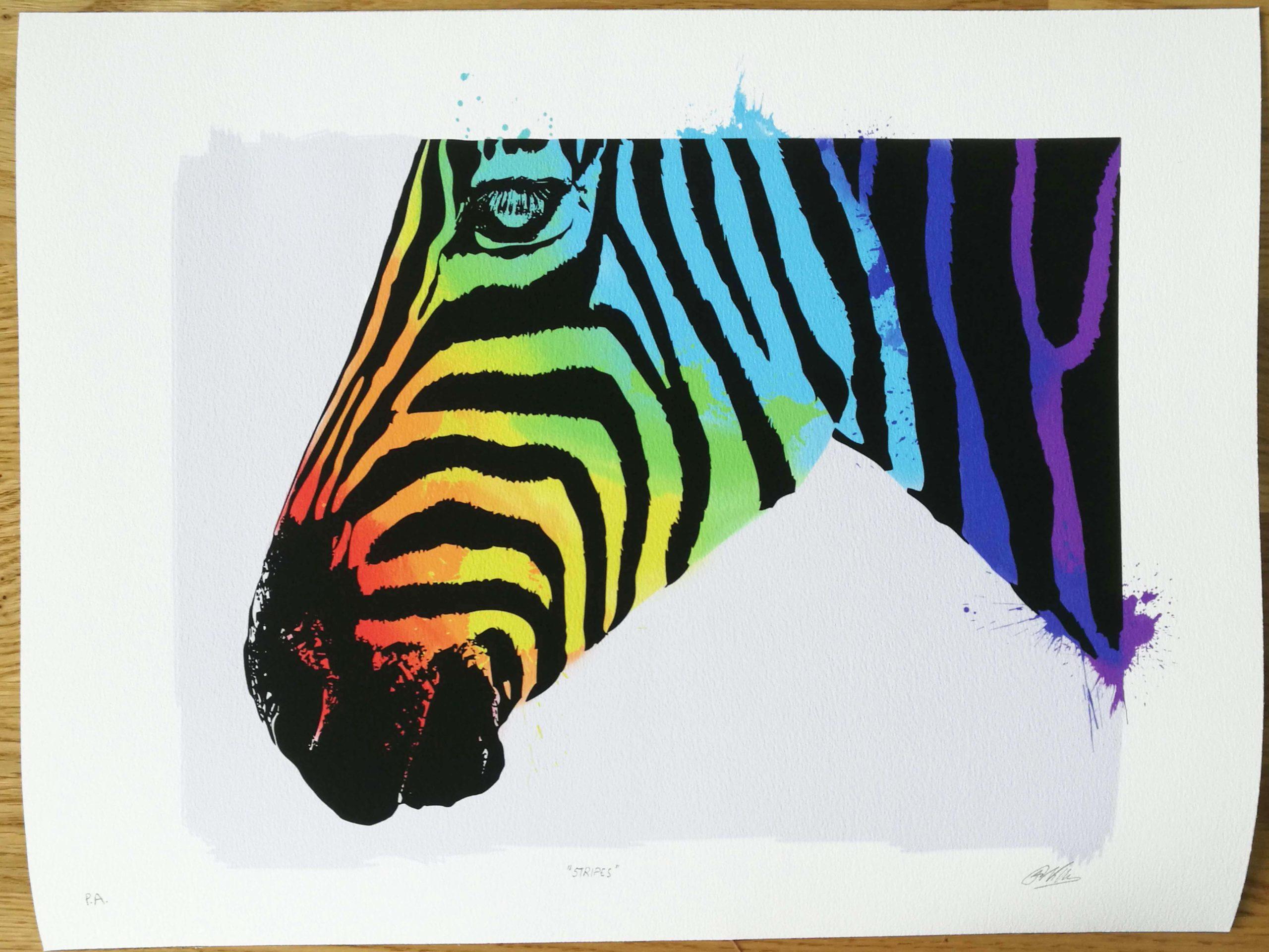 Stripes 30 x 40 (trykk) | 1200,-