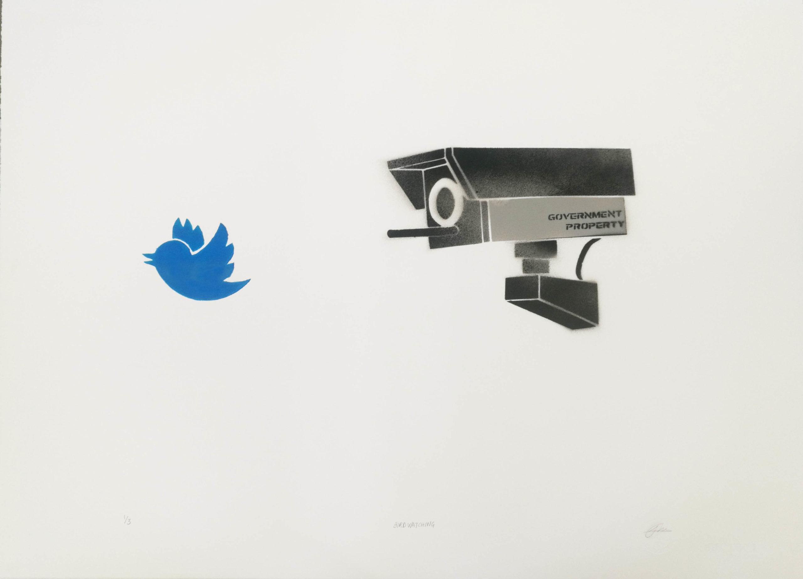 Birdwatching 56 x 76 (Original) | 3400,-