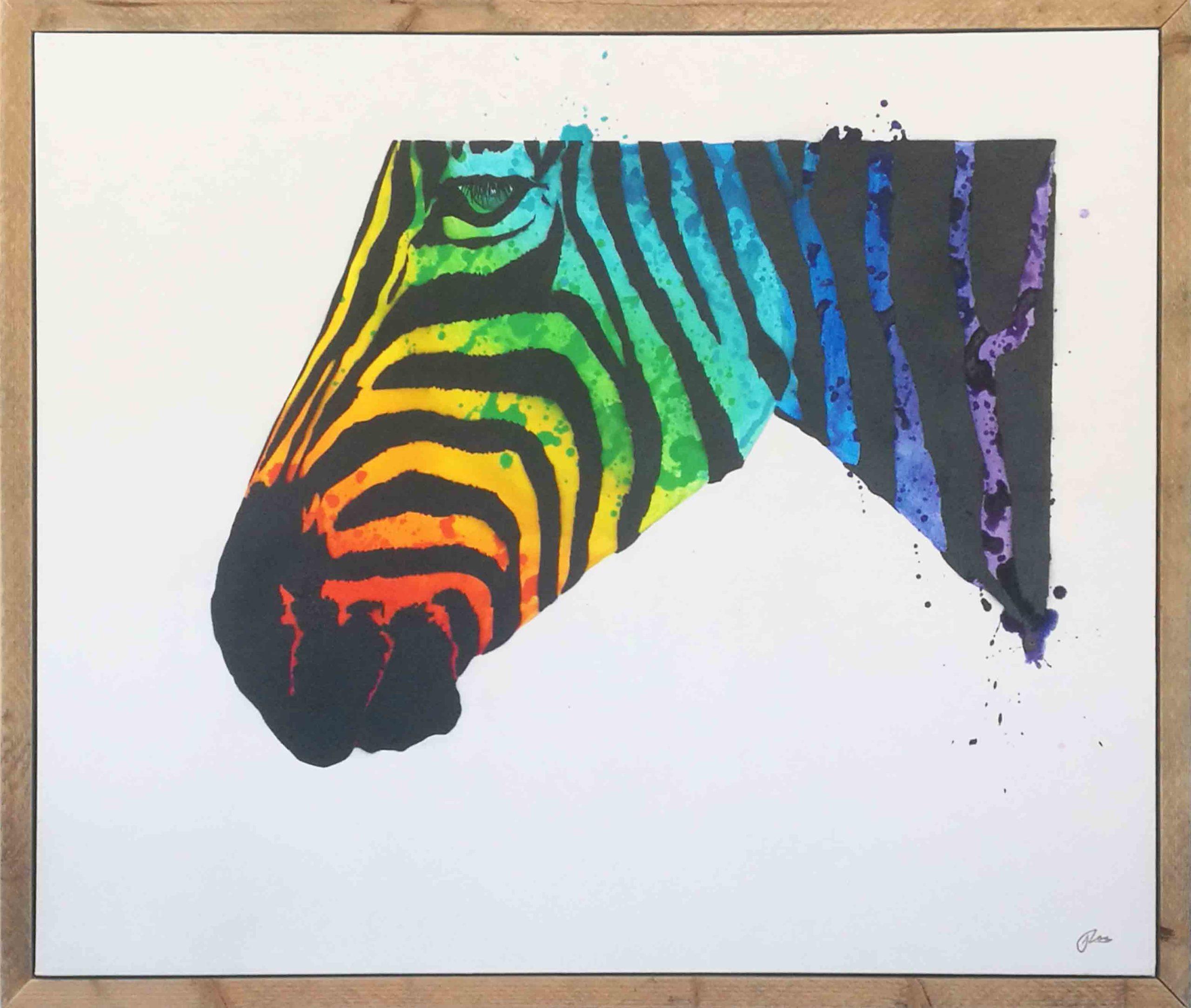 Stripes: Alt blir zebra! 100 x 80 (Original 2/2) | 6900,-