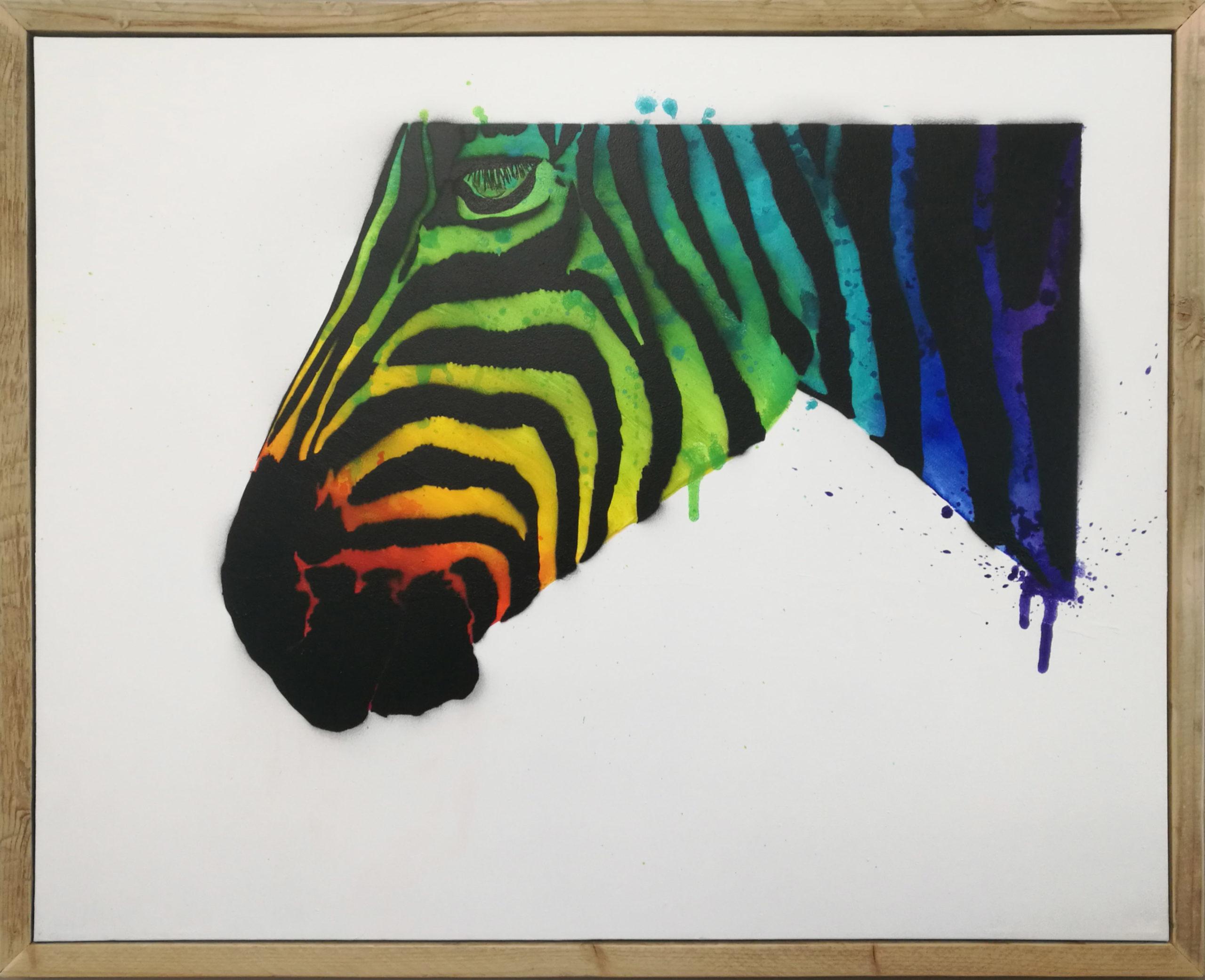 Stripes: Alt blir Zebra! 100 x 80 (Original 1/2) | Solgt